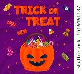 happy halloween trick or treat... | Shutterstock .eps vector #1516461137