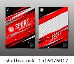 sport layout   template design  ... | Shutterstock .eps vector #1516476017