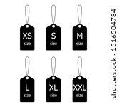 collection of label size... | Shutterstock .eps vector #1516504784