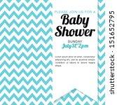 baby shower invitation for a... | Shutterstock .eps vector #151652795