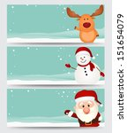 Set Of Christmas Banner. With...