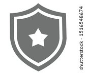 shield star icon vector easy... | Shutterstock .eps vector #1516548674