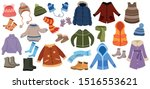 set of winter things.... | Shutterstock .eps vector #1516553621