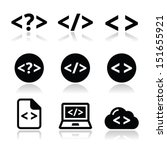 progrmming code vector icons set | Shutterstock .eps vector #151655921