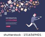concept of information overload ... | Shutterstock .eps vector #1516569401