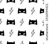 seamless pattern with superhero ... | Shutterstock .eps vector #1516594421