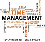 a word cloud of time management ... | Shutterstock .eps vector #151659695