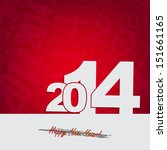 new 2014 year greeting card ... | Shutterstock .eps vector #151661165