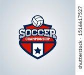 soccer football badge logo...   Shutterstock . vector #1516617527