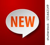 new 3d speech bubble on red... | Shutterstock .eps vector #151662149