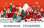 winter wonderland christmas... | Shutterstock .eps vector #1516646381