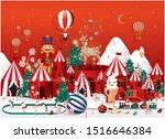 winter wonderland christmas... | Shutterstock .eps vector #1516646384
