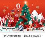 winter wonderland christmas... | Shutterstock .eps vector #1516646387