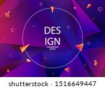 abstract purple background with ... | Shutterstock .eps vector #1516649447