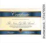 certificate template | Shutterstock .eps vector #151670054