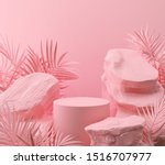 Abstract Pink Color Geometric...