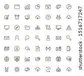 line icon set. collection of... | Shutterstock .eps vector #1516717247