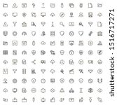 web hosting line icon set....