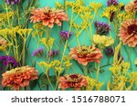 horizontal flat lay of colorful ... | Shutterstock . vector #1516788071
