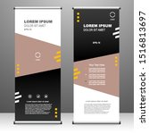roll up banner stand template...   Shutterstock .eps vector #1516813697