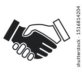 handshake of a fair skinned and ... | Shutterstock .eps vector #1516814204