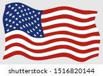 american flag vector icons ... | Shutterstock .eps vector #1516820144
