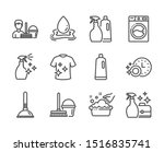 set of cleaning icons  such as... | Shutterstock .eps vector #1516835741