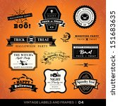 collection of halloween labels... | Shutterstock .eps vector #151683635
