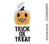 happy halloween pumpkin jack o... | Shutterstock .eps vector #1516850804