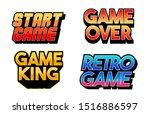 lettering game design set... | Shutterstock .eps vector #1516886597