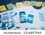 developing wireframe ux ui...