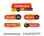 set of sale tags. vector... | Shutterstock .eps vector #1516920797