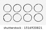 hand drawn circle sketch frame... | Shutterstock .eps vector #1516920821