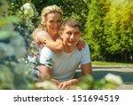 cute romantic couple in love | Shutterstock . vector #151694519