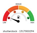 empty fuel meter isolated with... | Shutterstock .eps vector #1517003294