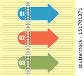 steps arrows for infographic ... | Shutterstock .eps vector #151701371
