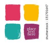 bright grunge design elements.... | Shutterstock .eps vector #151701647