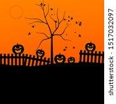halloween evening   jack o... | Shutterstock . vector #1517032097