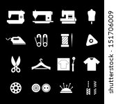 sewing icon set   white   Shutterstock .eps vector #151706009