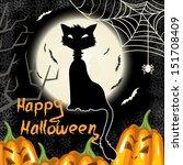halloween background with...   Shutterstock .eps vector #151708409