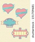 vintage love labels | Shutterstock .eps vector #151709681