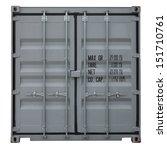 Rusty Gray Container Doors