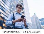 below view of cheerful... | Shutterstock . vector #1517133104