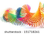 colorful wooden art twisted for ... | Shutterstock . vector #151718261