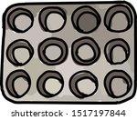 muffin pan  illustration ... | Shutterstock .eps vector #1517197844