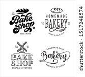 bakery emblems set. cooking... | Shutterstock .eps vector #1517248574