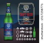 vector light beer label.... | Shutterstock .eps vector #1517258771