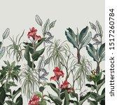 seamless border jungle high end ... | Shutterstock .eps vector #1517260784