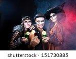 man and women  wearing  as ... | Shutterstock . vector #151730885