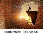 silhouette of free man....   Shutterstock . vector #151736531